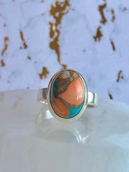Spiny Oyster Arizona Turquoise ring size 7