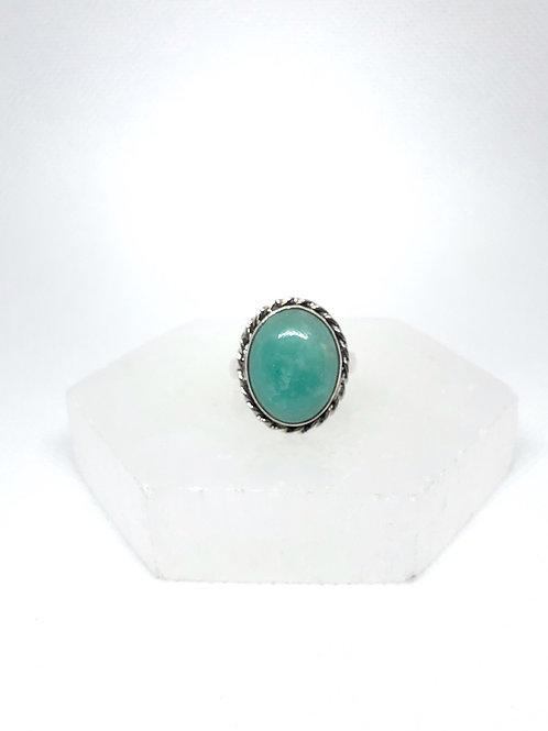 Amazonite ring size 7