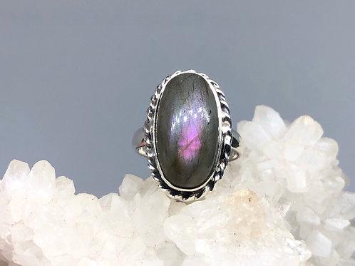 Sterling Silver Labradorite Ring Size 7