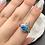 Thumbnail: Sterling  Silver Australian Doublet Opal Ring Size 8