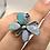 Thumbnail: Sterling Silver Australian Opal Ring Adj