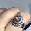 Thumbnail: Sterling Silver Australian Doublet Opal Ring size 9