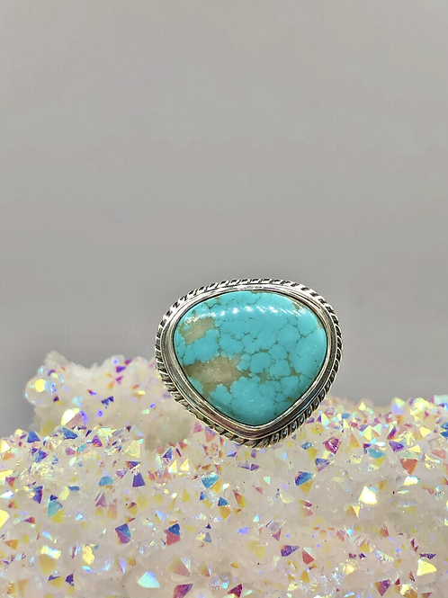 Sterling silver Aztec Turquoise Ring Size 10