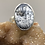Thumbnail: Sterling Silver Adjustable Dendritic Opal Ring