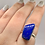Thumbnail: Sterling Silver Lapis Lazuli Ring Size 9