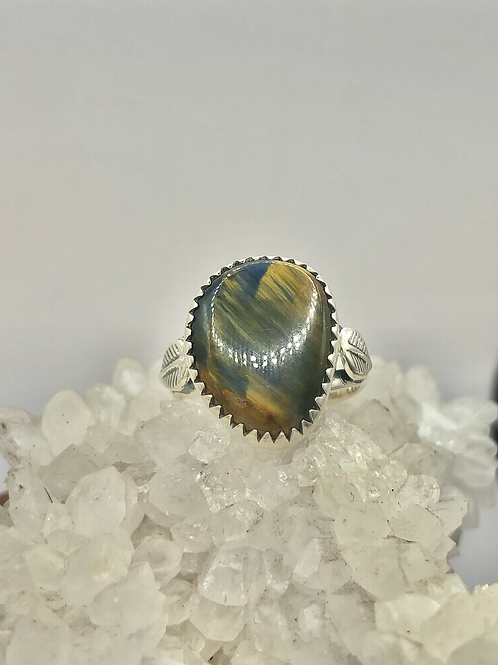 Sterling Silver Pietersite Ring Size 7.5