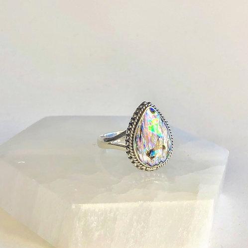 Abalone Shell Bali style ring size 9