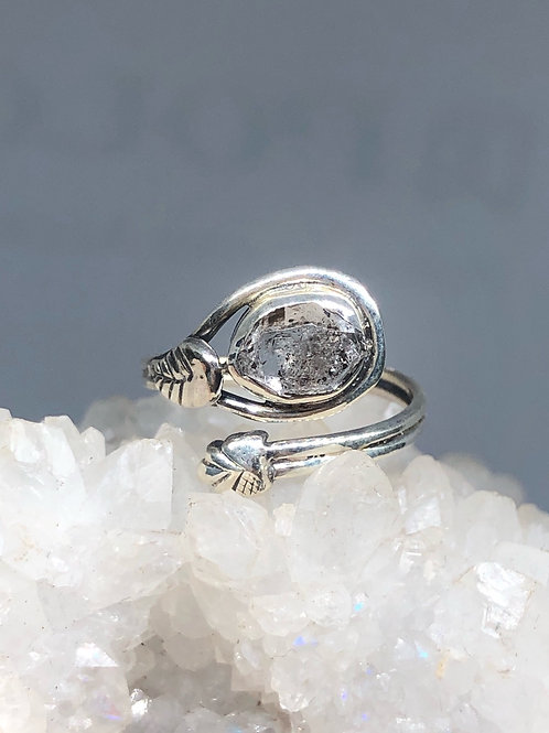 Sterling Silver Herkimer Diamond Ring Size 6.5