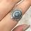 Thumbnail: Sterling  Silver Australian Doublet Opal Ring Size 8.5