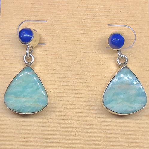 Sterling  Silver Amazonite Earrings