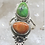 Thumbnail: Sterling Silver Mohave and Spiny Oyster Turquoise Ring Size 5.5