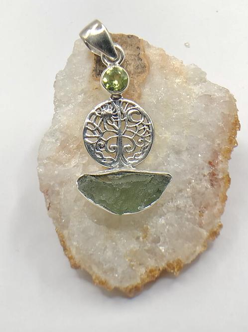 Sterling Silver Moldavite Pendant