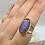 Thumbnail: Sterling Silver Purple Labradorite Ring Size 7
