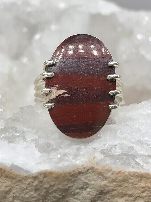 Red Brecciated Jasper Ring size-8