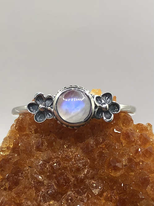 Sterling Silver Moonstone Ring Size 13