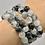Thumbnail: Black Rutile Beaded Bracelet
