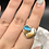 Thumbnail: Sterling Silver Spiny Oyster Arizona Turquoise Ring Size 7