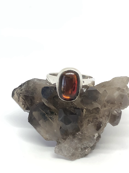 Sterling silver Ammolite ring size 7