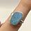 Thumbnail: Sterling Silver Australian Opal Ring Size 5.5