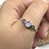 Thumbnail: Sterling Silver Moonstone Ring Size 13