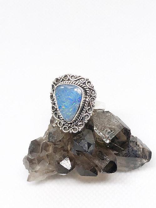 Australian douplet opal ring size 7