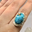 Thumbnail: Sterling Silver Persian Turquoise Ring Size 9.5