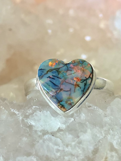 Sterling Opal Ring Size 11