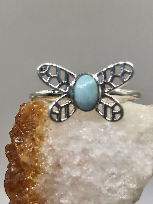 Sterling Silver Larimar Ring Size 10