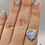 Thumbnail: Sterling Silver Moonstone Ring Size 10