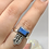 Thumbnail: Sterling Silver Faceted  Labradorite Ring Size 9