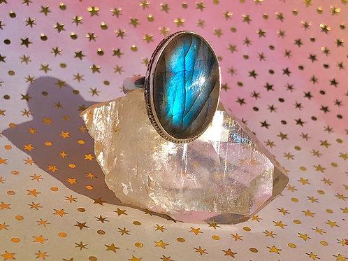 Fire Labradorite ring size 10