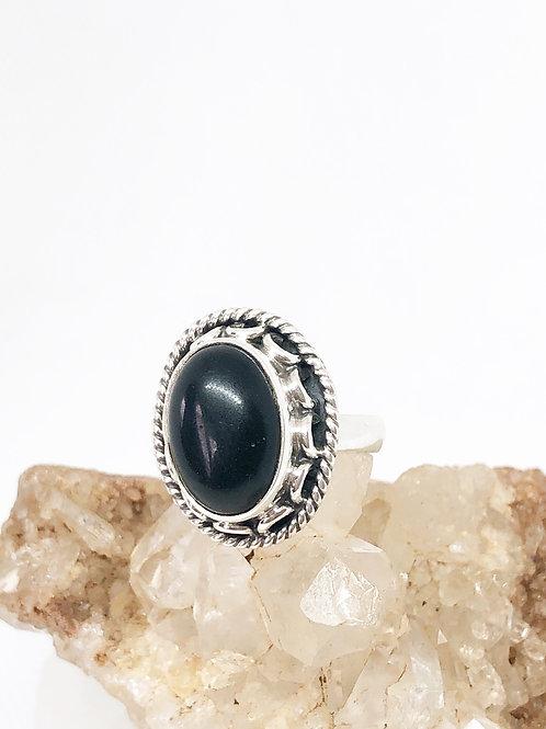 Black onyx rings size 5
