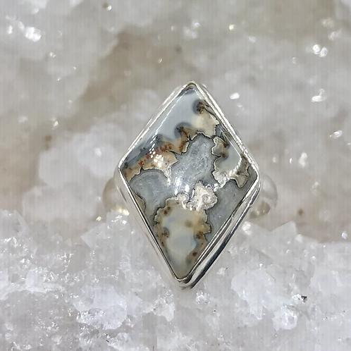 Sterling Silver Jasper Ring Size 11