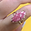 Thumbnail: Sterling Silver Pink Thulite Ring Size 9