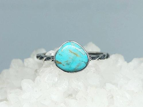 Nevada Aztec Turquoise Ring Size 9.5