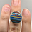 Thumbnail: Sterling Silver Rainbow Calsilica Ring Size 4.5