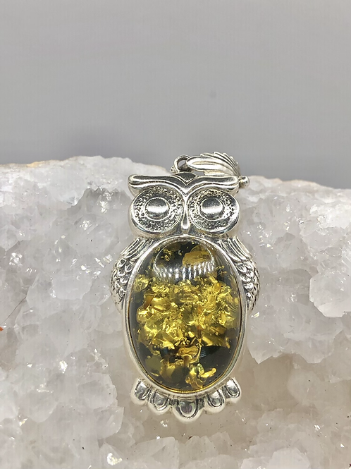 Sterling Silver Columbian Amber Pendant