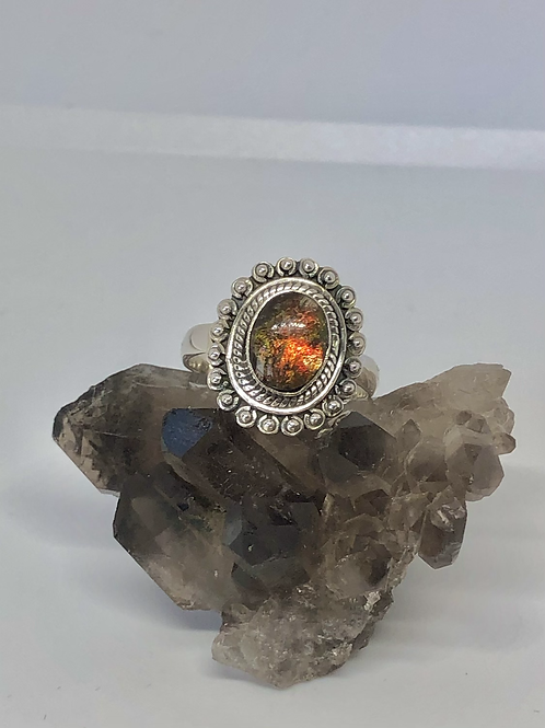 Sterling silver Ammolite ring size 8.5