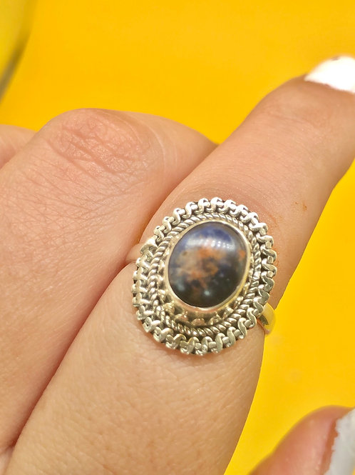 Sterling Silver Sodalite Ring Size 7.5