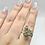 Thumbnail: Sterling Silver Moldavite Ring Size 9