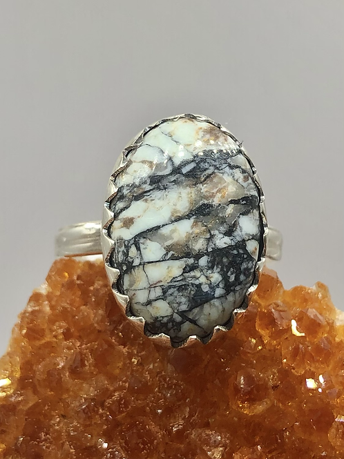 Sterling Silver Buffalo Turquoise Ring Size 7.5