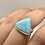 Thumbnail: Sterling Silver Larimar Ring Size 6