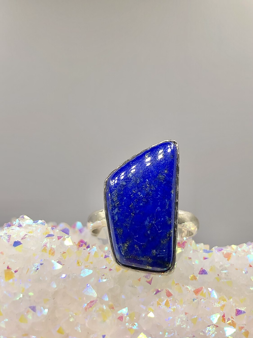 Sterling Silver Lapis Lazuli Ring Size 9