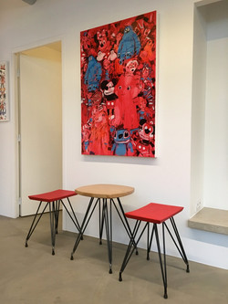 Apollo stools and table