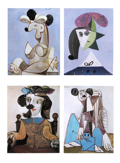 Four plates after Picasso