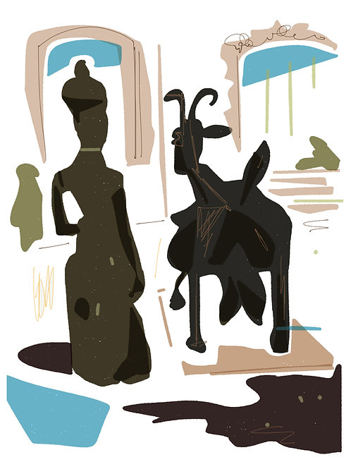 'The Bronze Goat' limited edition print - the Picasso Suite