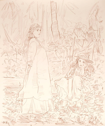 Women in Colonial Dress
