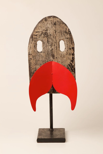 Mask with red moustache