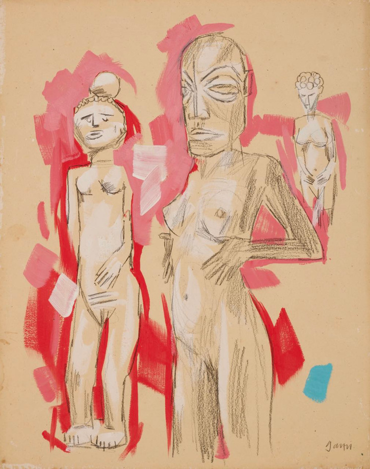 Nude with Mask