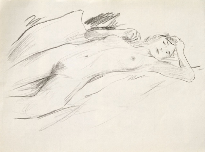 Nude with pillow